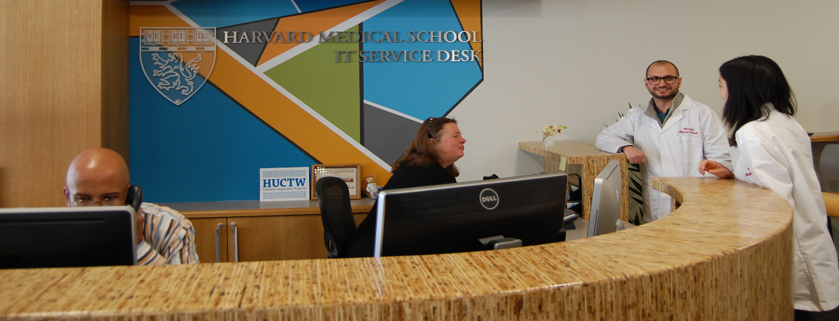 Service Desk personnel assisting clients